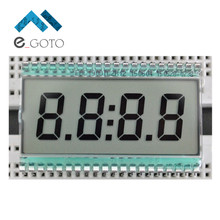 EDC190 4 Digit 7 Segment LCD Display Digital Clock Tube Static Driving 5V 50.8x30.48x2.8mm Semitransparent TN Pin