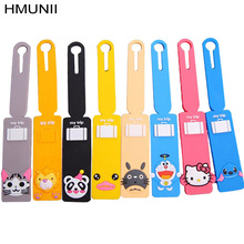 Travel Accessories Baggage Tag Lovely Cartoon Silicone 15 Color Suitcase Baggage Checklist Portable Label