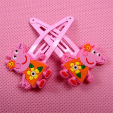 Novelty Girls Hairpins 2pcs/pair Cartoon Cute Pippa Pink Pig Hair Clips For Girls Headwear Accessories Doll Toys Random Shipping