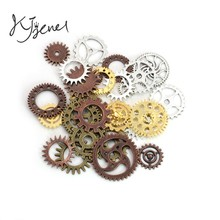 20pcs Antique Silver Plated Punk Gear Charms Steampunk Pendants Fit Jewelry Making Findings Accessories Diy Handmade