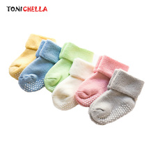 Buy Cotton Baby Socks Thicken Warm Kids Newborn Autumn Winter Boys Girls Infant Toddler Anti Skid Floor Wear Colorful Sock CL5160 for $1.49 in AliExpress store
