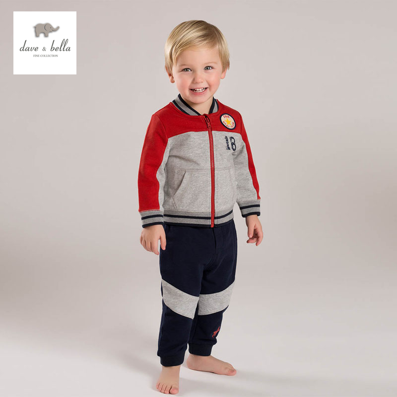 DB4549 dave bella spring baby boys sports clothing sets kids fashion sets clothes 1set toddle boutique set<br>
