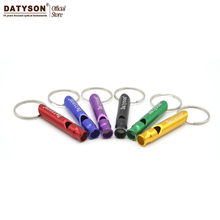 5PCS 10PCS Mini Aluminum Alloy Whistle Keyring Keychain For Outdoor Emergency Survival Safety Sport Camping Hunting Random Color(China)