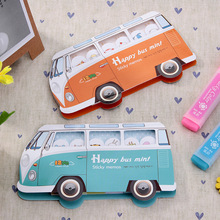 12 X Post It Cute Happy Bus Sticky Notes Kawaii Memo Pads 8 Style Notepad Stickers Paper Papeleria Point Marker Stationery Notas