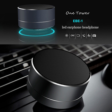 Wireless Bluetooth Speakers LED Metal Steel Mini Portable Speaker Smart Hands Free Speaker FM Radio Bass boombox Support SD Card
