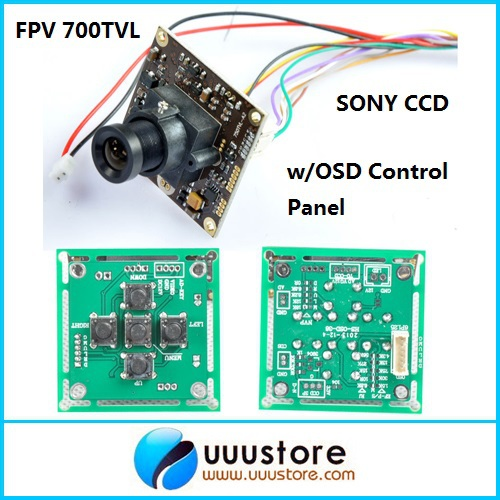 FPV 700TVL Sony Super HAD II CCD WDR Board Mini RC Camera+OSD Control Panel+3.6mm lens For RC<br><br>Aliexpress