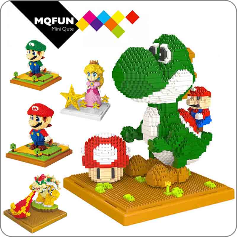 Balody Game Super Mario Fire Mario Flower Diamond Mini Building Nano Blocks Toy
