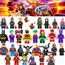 2017 Newest & Classic 100+ Super Heroes Single Sale Guardians of the Galaxy Batman X MAN Avengers legoing Building Blocks Toys