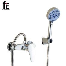 fiE Alloy Shower Mixer Shower Faucet Hot And Cold Bath Full Copper Mixing Valve Bathroom Faucet Shower(China)