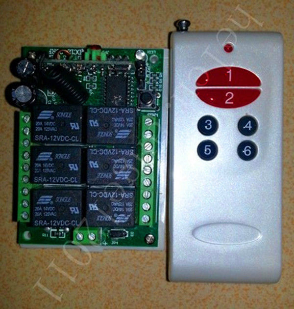 6 Channel RF Wireless Receiver+Remote Controller 315 MHz<br><br>Aliexpress