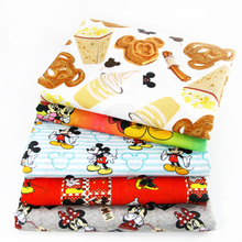 David accessories 50*145cm Mouse patchwork Polyester cotton fabric for Tissue Kid Bedding home textile for Sewing Tilda,1Yc414