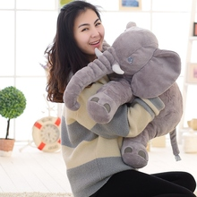Super soft velvet elephant Plush Doll The proboscis elephant with the baby Birthday gift 40/60cm(China)