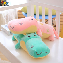 45cm Kawaii Plush Hippo Toy Stuffed Hippos Animal Doll Baby Girl Boy kids children Birthday Gift Home Office Car Deco Triver(China)