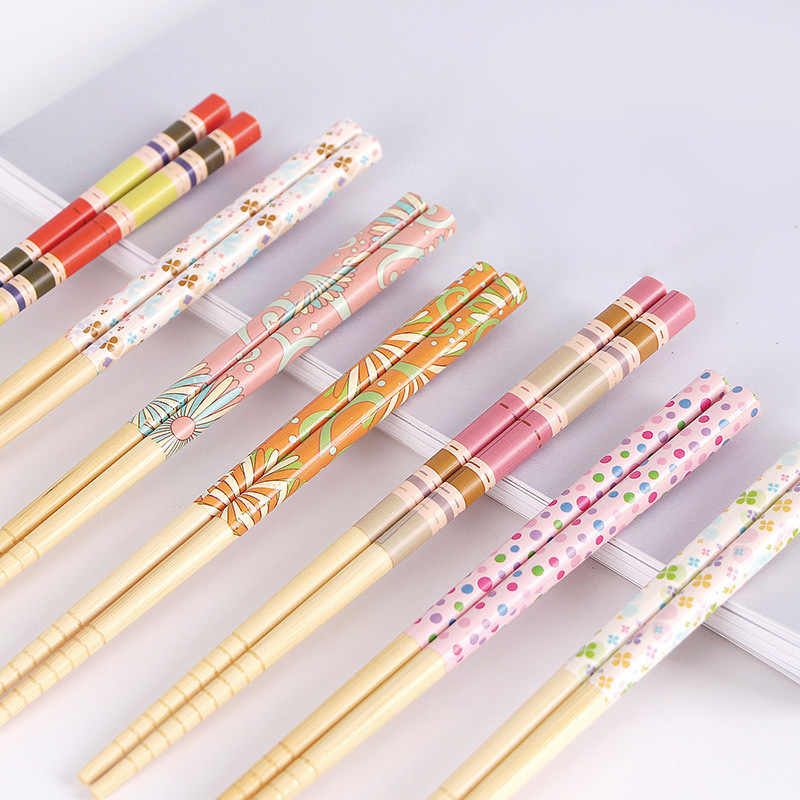 Luban Bamboo Chopsticks Non-slip Wood Household Japanese Chopstick Hotel Multi-color Chopsticks Tableware