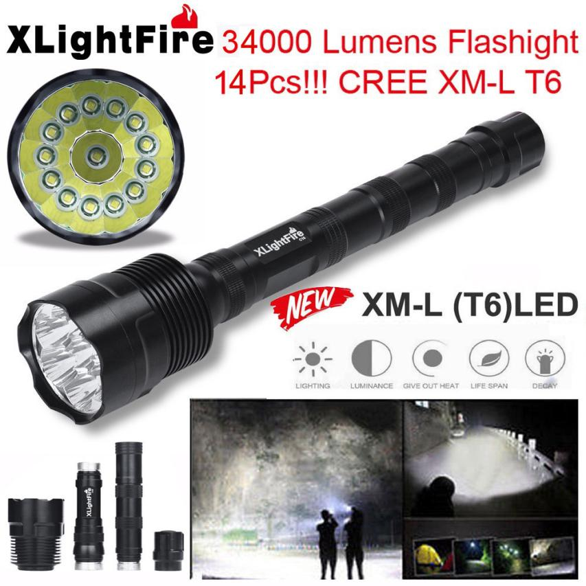 2017 NEW XLightFire 14x XML T6 5 Mode 18650 Super Bright LED Flashlight 721<br>