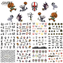 1Sheet Ghost/Pumpkin/Spider Nail Tips Decals Halloween Nail Art Water Transfer Stickers Beauty Manicure Decor Tools LAA1117-1128(China)