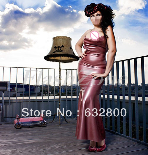 Latex Long gowns dress