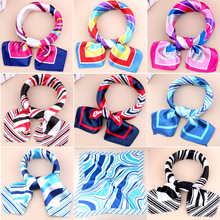 50*50 cm Color printing small square scarves Decorated career stewardess necessary scarf   Style Diversity