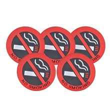 "5pcs Rubber "" No Smoking "" Warning Sign Labels Decals Car Vehicle Truck Sticker FOR Mercedes Benz W212 Audi Toyota Nissan VW Kia"