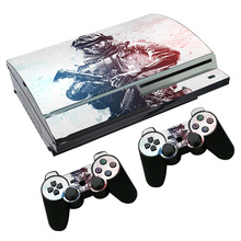 skin sticker for playstation3 skins for ps3 Fat console+ 2 controllers TN-P3-2142(China)