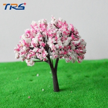8cm scale model kits plastic model tree miniature colorful tree model for model railroad layout