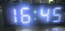 "8"" white color,temperature,time,led GPS clock,led module,7 segment of the modules, semi-outdoor,led signs,led gas price"