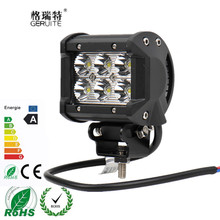 "4"" inch 18W LED Work Light Lamp Flood beam spotlight for Motorcycle Tractor Boat Off Road 4WD 4X4 Truck SUV ATV Spot 12V 24V"