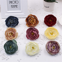 Wholesale 1pcs 7.5cm Big Shiny Silk Peony Artificial Flower For Wedding Party Festive Home Decoration DIY Craft Supplies Flowers