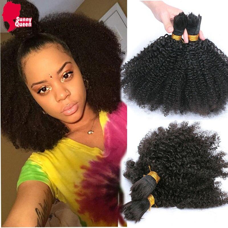 7A Mongolian Afro Kinky Curly Bulk Hair For Braiding 1Pc Human Braiding Hair Bulk Ali express Braiding Hair Rosa Hair Products<br><br>Aliexpress