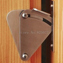DHL Wholesale 25PCS Stainless Steel Silver Door Latch Lock for Sliding Barn Wood Door On Sale JF1149
