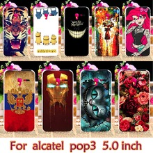 AKABEILA Plastic Case For Alcatel OneTouch Pop 3 5015D 5.0 inch 3G Version One Touch Pop 3 5015 5016A 5016J 5015 Case Cover