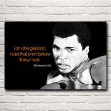 Muhammad Ali Boxer Champion Art Silk Poster Print Sports Pictures Home Decor 12x18 16X24 20x30 24x36 Inches Free Shipping