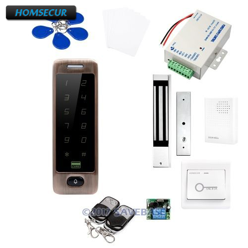 HOMSECUR Waterproof Door Lock 13.56Mhz IC Access Control System with Waterproof 280KG Magnetic Lock(China)
