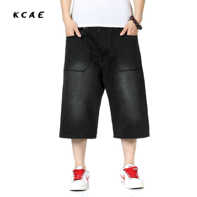 2017 New Summer Brand Hip Hop Harem Baggy Pants Men Denim Jeans Shorts Black Jeans Shorts for Men Plus Size 30-46Îäåæäà è àêñåññóàðû<br><br>