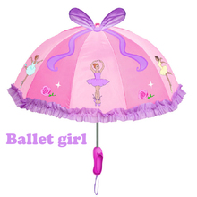 Free shipping ballet girl princess kids pink umbrella, children kid fairy cartoon umbrellas, cut crafts gift for child