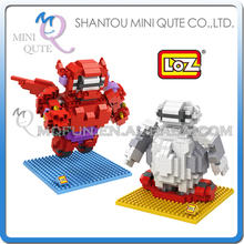s 48 pcs/lot Mix 2 models Mini Qute LOZ big hero 6 baymax plastic building blocks action figure cartoon educational toy - MINI QUTE PLASTIC BLOCKS & METAL PUZZLE WORLD store