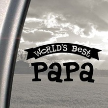 For Worlds Best Papa Black Decal Car Truck Window Sticker Car Styling(China)