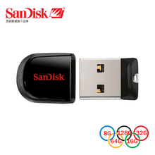 SanDisk CRUZER FIT CZ33 USB Flash Drive 32GB 16GB 8GB mini Pen Drives 64GB USB 2.0 PenDrives 32G Support Official Verification
