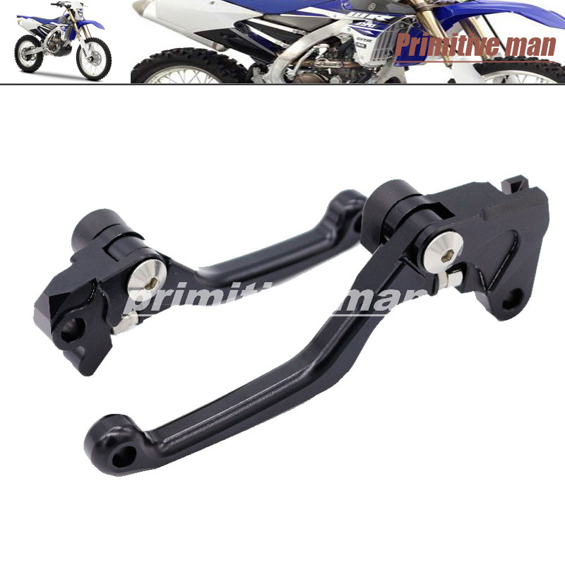 For YAMAHA WR 250F/450F 2001-2009  Motocross dirt bike CNC Pivot Brake Clutch Levers Black<br><br>Aliexpress