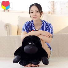 Candice guo! Cartoon Movie doll rise planet of apes emulational black orangutan plush toy creative birthday gift 1pc(China)