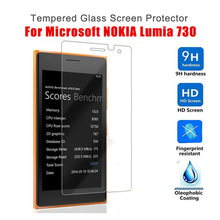 Tempered Glass For Microsoft Nokia Lumia 730 Screen Protector 9H Hard 2.5D 0.26mm Front Guard Film For Nokia 730 glass(China)