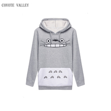 Coyote Limited Valley 2017 Women Hoodie Sweatshirt Panda Letters Printing Hooded Long-sleeved Casual Moleton Feminino Com Capuz(China)