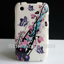 Cute Butterfly Flower Design Hard Back Skin Cover Case For Blackberry Curve 8520 8530 Coque Funda Capa New(China)