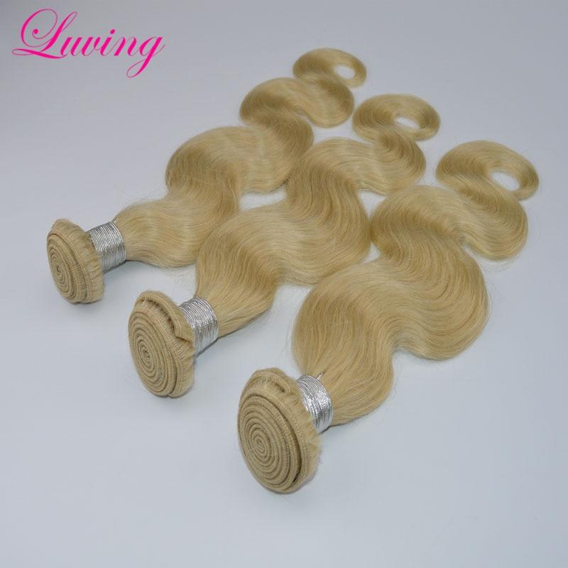 3 Bundles Virgin Peruvian Blonde Hair Extensions #613 Body Wave 7A Grade 100% Unprocessed Remy Human Hair Weaves<br><br>Aliexpress