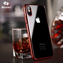 Benks Luxury Plating Case For iPhone X Capinhas Ultra Thin Electroplating Hard PC Back Cover Case For iPhoneX Capa Shell Coque(China)
