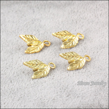 Wholesale 65 pcs gold color plated tree leaf Pendant zinc Alloy fit DIY Fashion charm Bracelet Necklace Jewelry Accessories