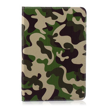 "Green Uniform pattern PU Leather Flip Case for Apple iPad air1  2 iPad mini1 2 3 iPad 2 3 4 pro 12.9 "" 9.7""Case With Card Holder"