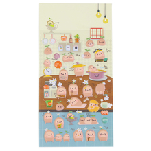 1 Pc / Pack Korea Stationery Wholesale Potato Life Perspective Puffy Sticker Diary Decorative Sponge Into A Single Sticker
