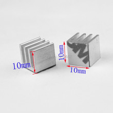 10Pieces lot 10x 10 x 10mm Aluminum Heat sink IC Memory Chip Heatsink Cooling Cooler