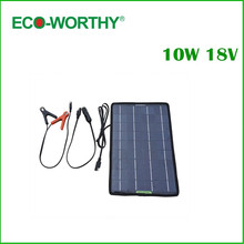 ECO-Worthy 18V 10W Portable Solar Panel Multi-Purpose Solor Charger for 12V battery Cars Boat Motorcycle Solar Battery Panel(China)